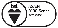 BSI AS9100 accreditation logo